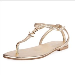 Authentic YSL Gold sandals